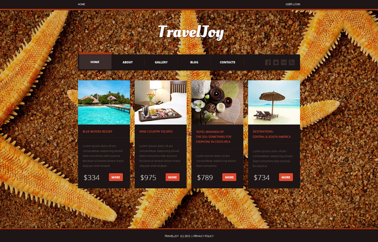Travel Center Joomla Template New Screenshots BIG