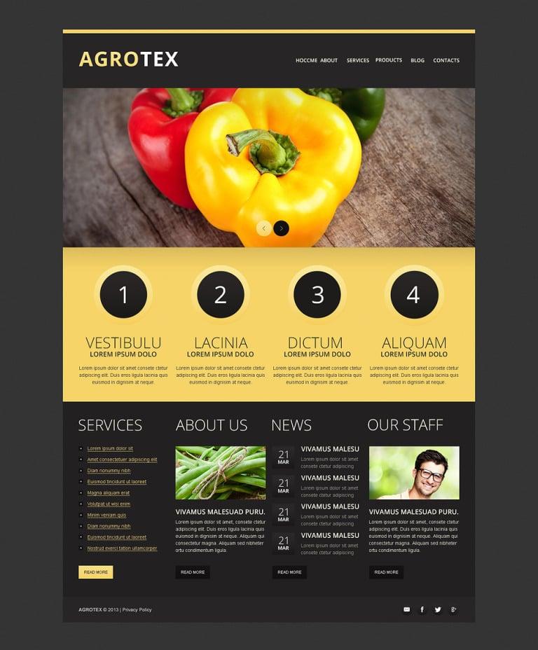 Vegetable Farm Drupal Template New Screenshots BIG