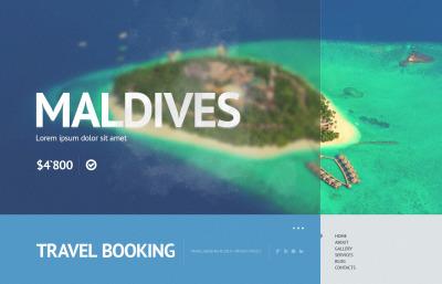 Website Vorlage für Reiseshop