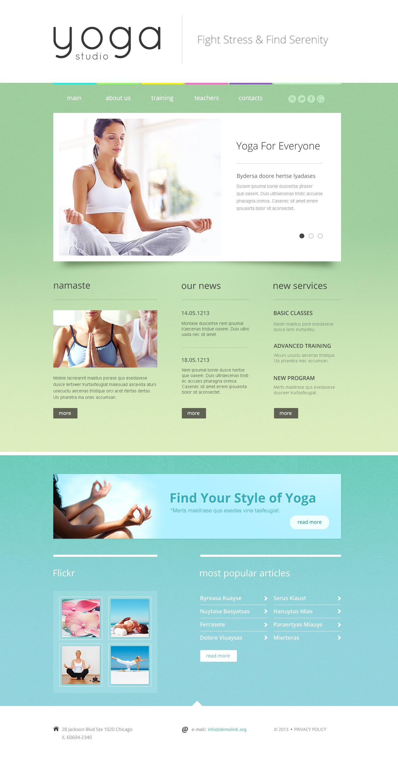 Yoga Responsive Website Template #46553
