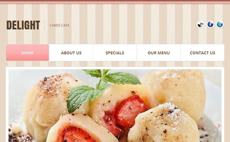 Premium Kafe  Facebook Html Cms Şablon New Screenshots BIG