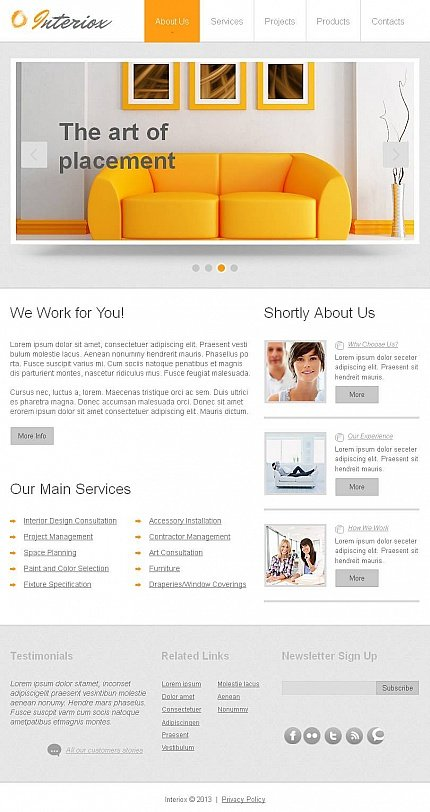 ADOBE Photoshop Template 46615 Home Page Screenshot