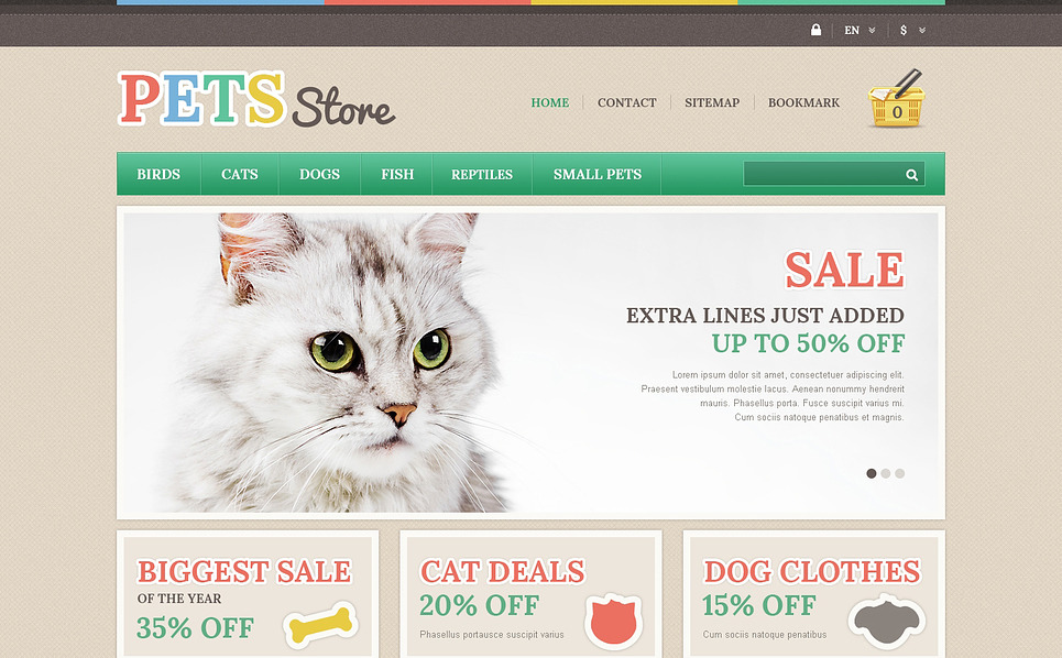 Responsives PrestaShop Theme für Zoogeschäft  New Screenshots BIG