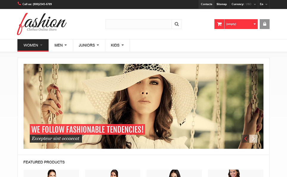 Responsive PrestaShop Thema over Modewinkel New Screenshots BIG