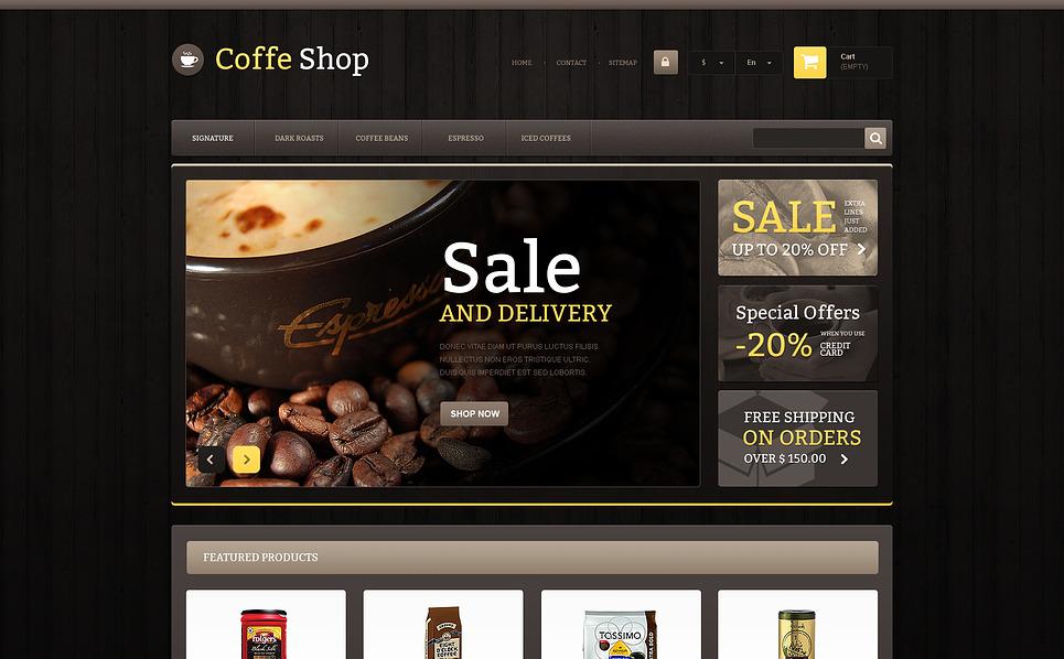 Reszponzív Kávébolt  PrestaShop sablon New Screenshots BIG