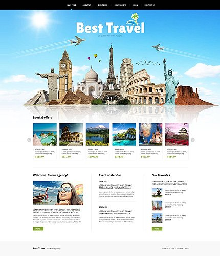 Joomla Theme/Template 46634 Main Page Screenshot