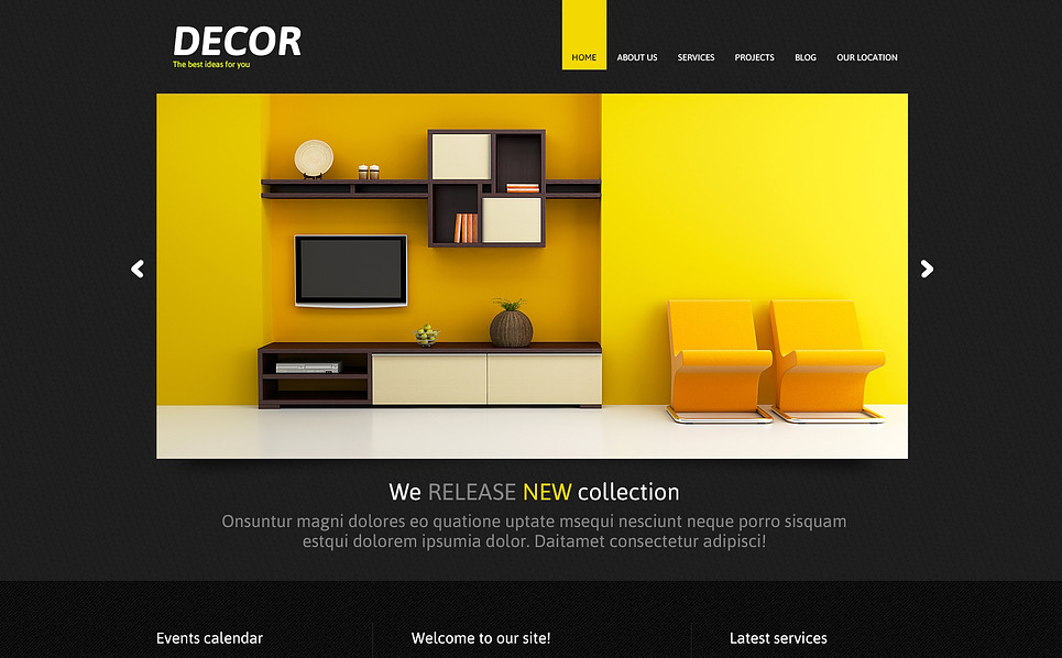 Responsive Joomla Template over Woning Decoratie New Screenshots BIG