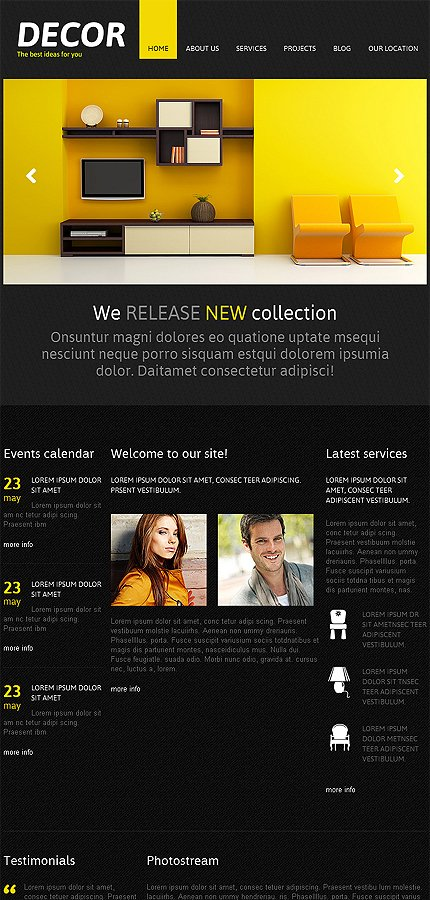 Joomla Theme/Template 46635 Main Page Screenshot
