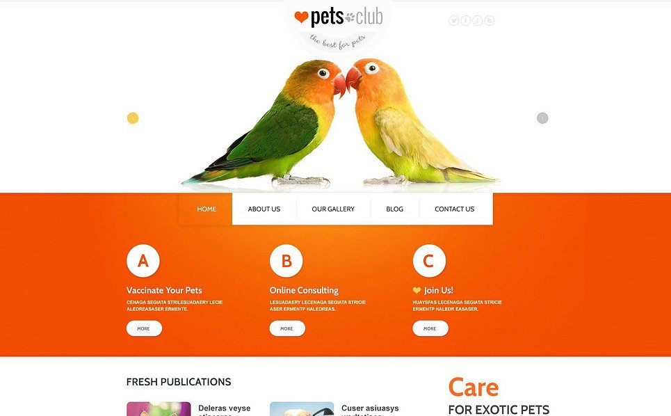 Responsywny szablon Joomla #46636 na temat: Zwierzęta New Screenshots BIG