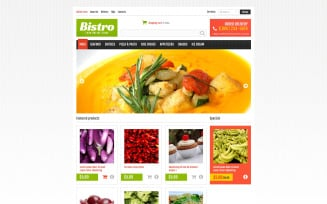 Online Food Store VirtueMart Template