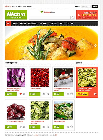 ADOBE Photoshop Template 46647 Home Page Screenshot