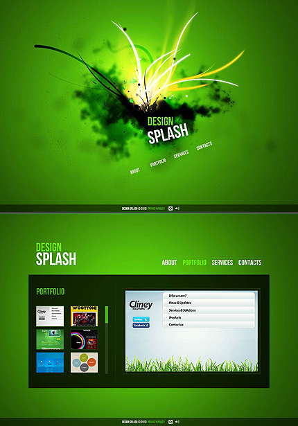 ADOBE Photoshop Template 46653 Home Page Screenshot