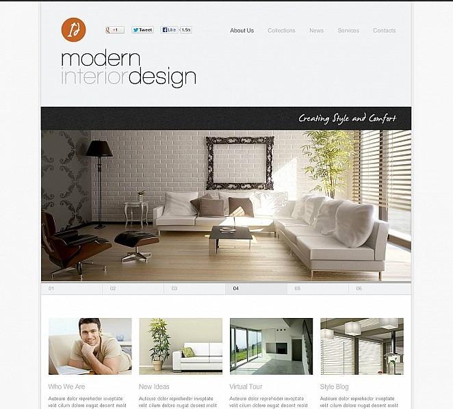 Luxusní Flash CMS šablona na téma Interiér a nábytek New Screenshots BIG