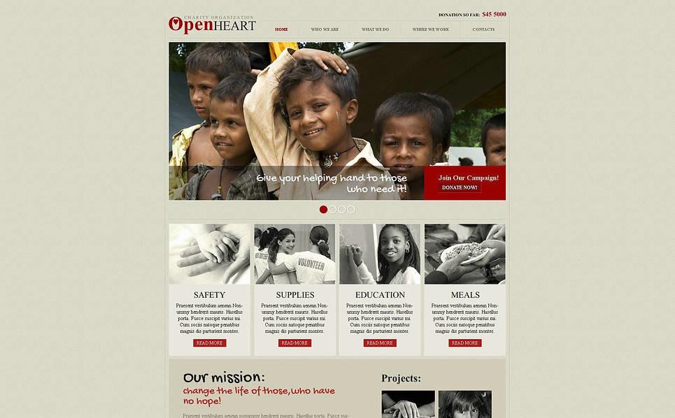 Modèle Flash CMS  pour site d'association caritative New Screenshots BIG