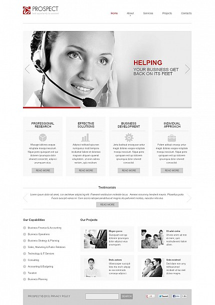 ADOBE Photoshop Template 46665 Home Page Screenshot