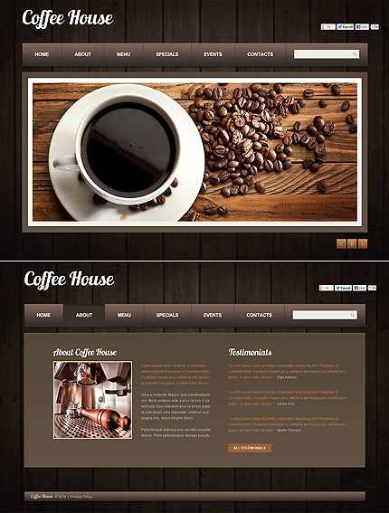 ADOBE Photoshop Template 46666 Home Page Screenshot