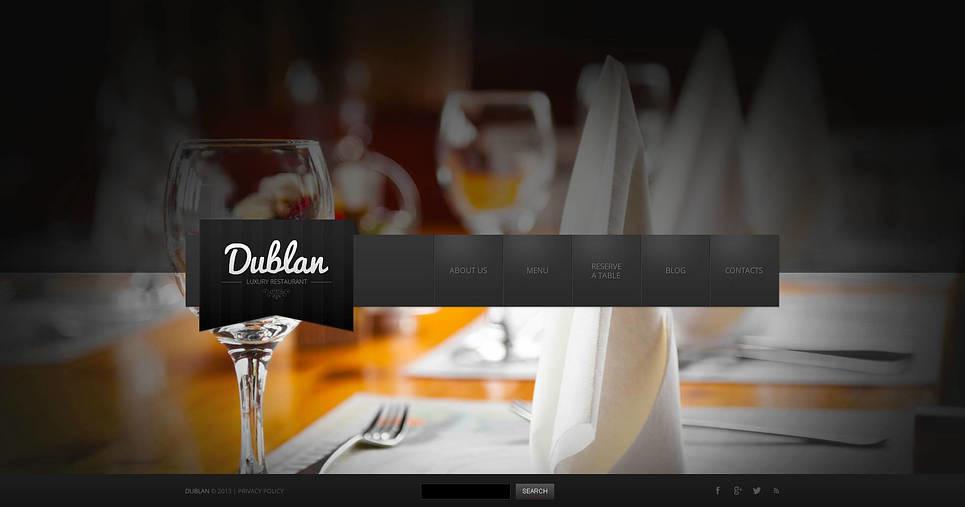 Prémium Kávézók és éttermek  Flash CMS sablon New Screenshots BIG