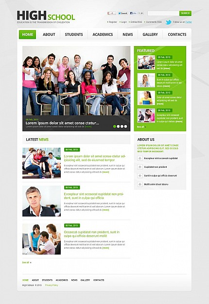 ADOBE Photoshop Template 46668 Home Page Screenshot