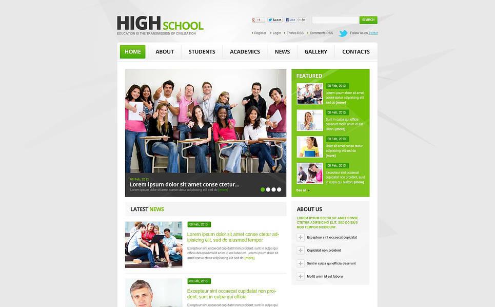 Template Flash CMS para Sites de Educação №46668 New Screenshots BIG