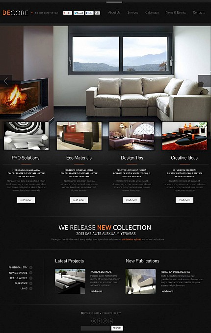 ADOBE Photoshop Template 46669 Home Page Screenshot