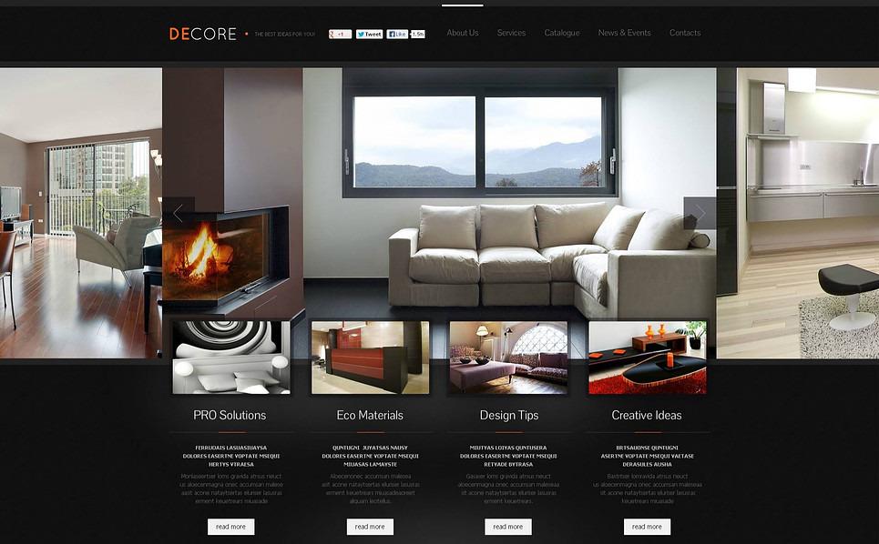 Flash CMS шаблон на тему декор дому New Screenshots BIG