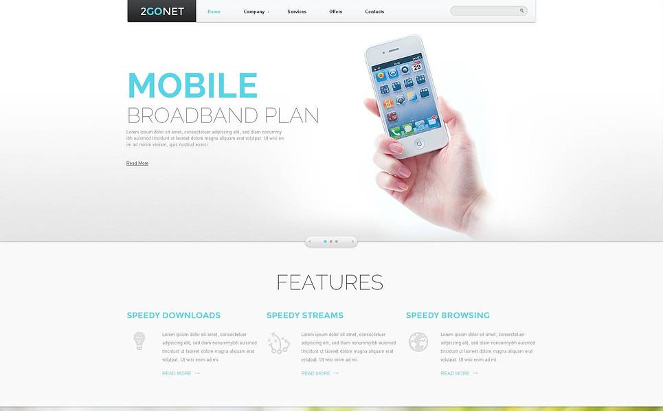 Szablon Flash CMS #46670 na temat: centrum telefoniczne New Screenshots BIG