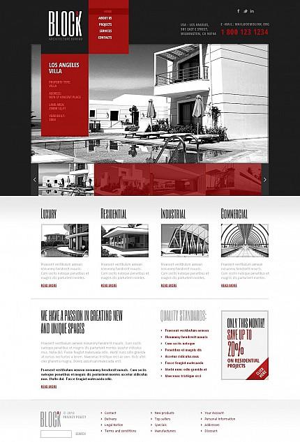 ADOBE Photoshop Template 46673 Home Page Screenshot