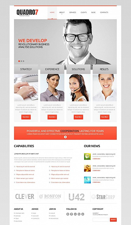 ADOBE Photoshop Template 46678 Home Page Screenshot