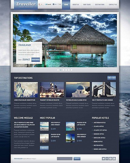 ADOBE Photoshop Template 46679 Home Page Screenshot