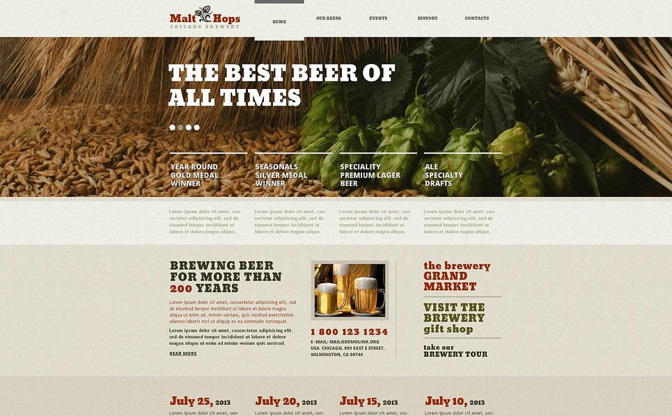 Plantilla Flash CMS #46684 para Sitio de Cervecería New Screenshots BIG