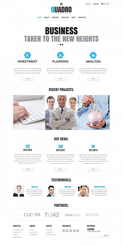 ADOBE Photoshop Template 46685 Home Page Screenshot
