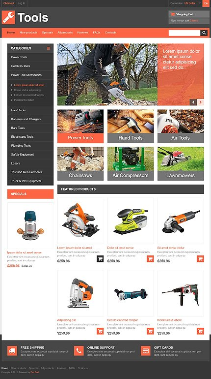 ZenCart Template 46686 Main Page Screenshot