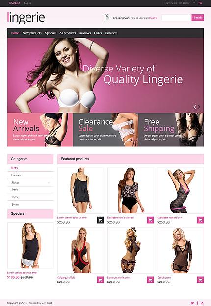ZenCart Template 46687 Main Page Screenshot