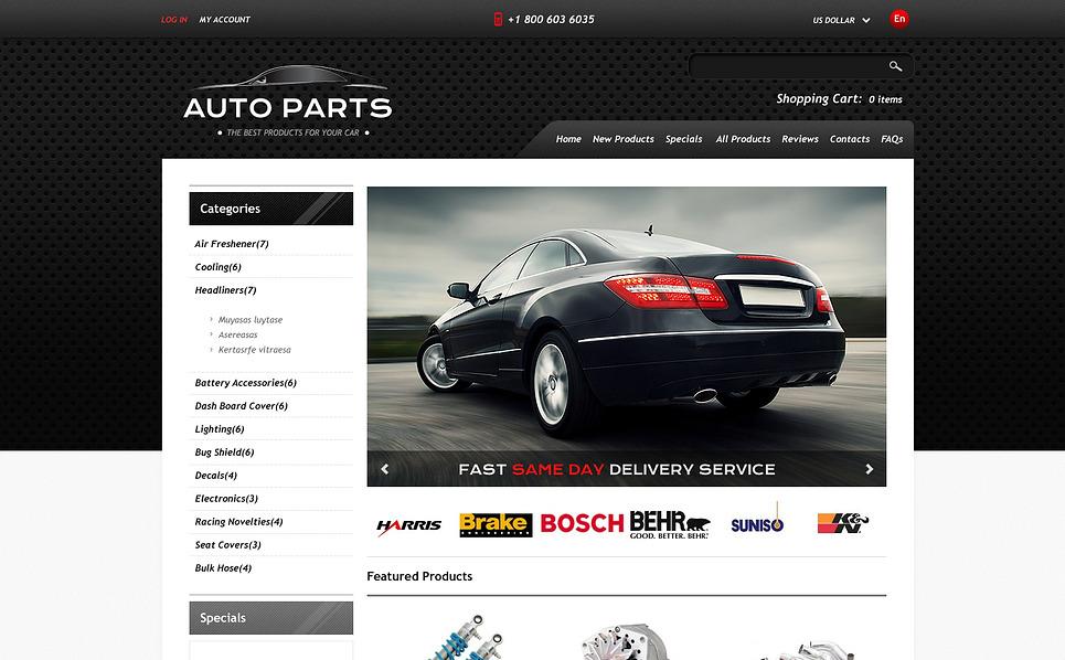ZenCart template over Auto-onderdelen  New Screenshots BIG