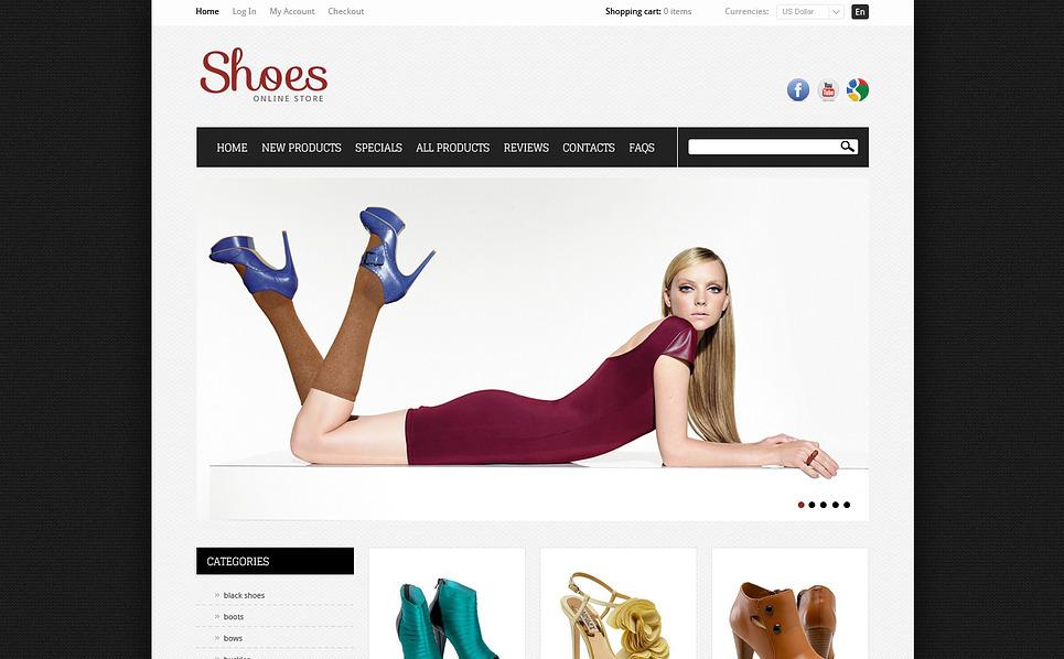 Cipőboltok ZenCart sablon New Screenshots BIG