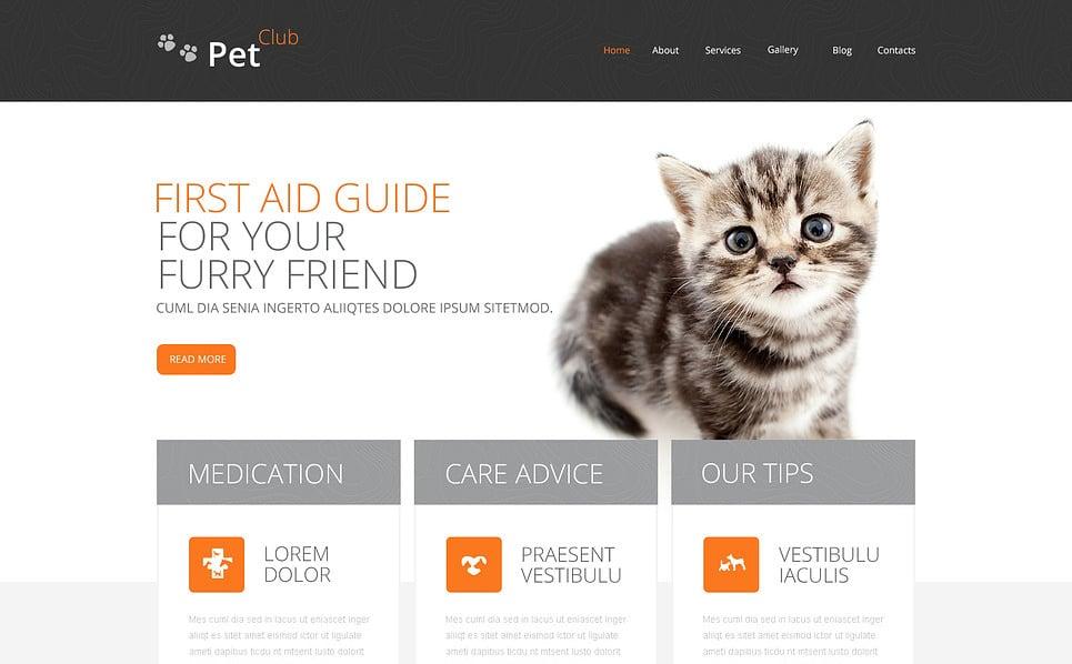Responsive Drupal Vorlage für Tiere und Haustiere New Screenshots BIG