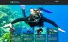 Адаптивний Joomla шаблон на тему дайвінг New Screenshots BIG