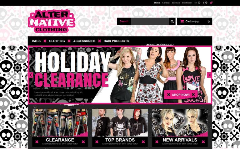 Alternative Clothing Store PrestaShop Theme