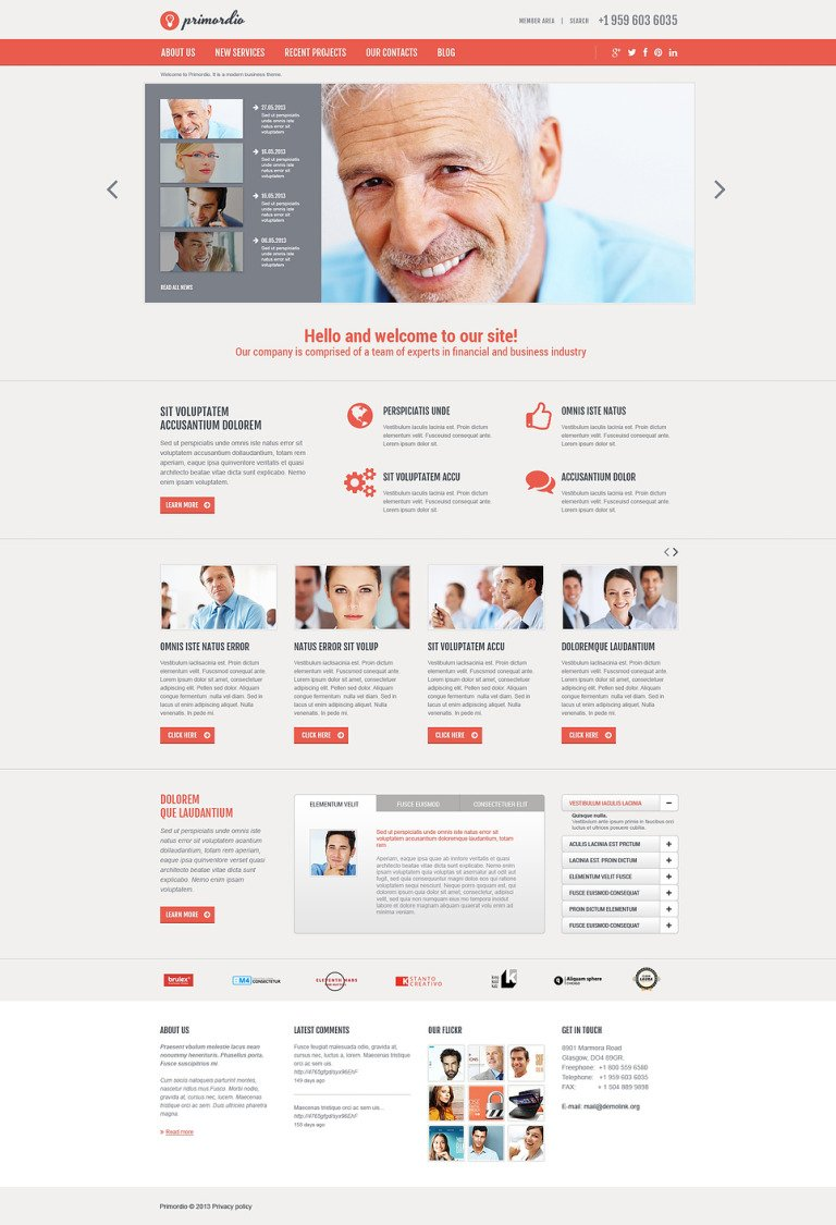 Balanced Business Joomla Template New Screenshots BIG