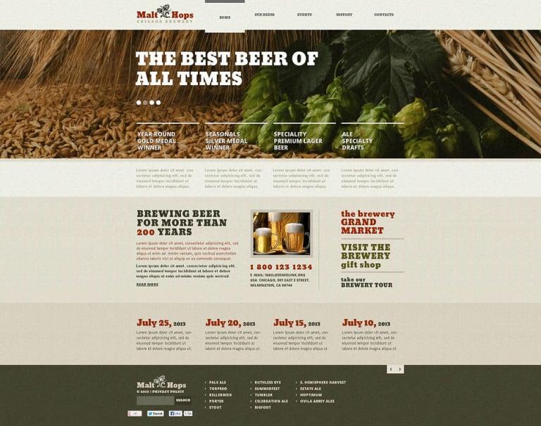Brewery Flash CMS Template New Screenshots BIG