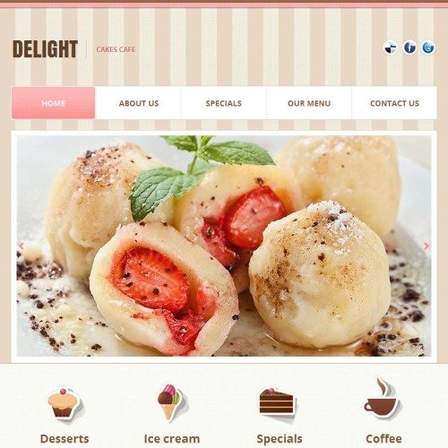 Delight - Facebook HTML CMS Template