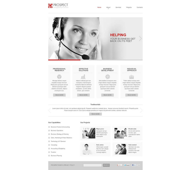 Call Center Flash CMS Template New Screenshots BIG