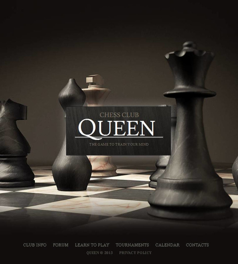 Chess Facebook HTML CMS Template New Screenshots BIG