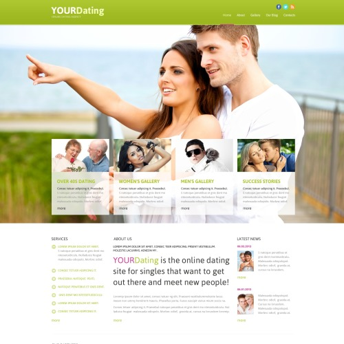 Your Dating - Joomla! Template based on Bootstrap