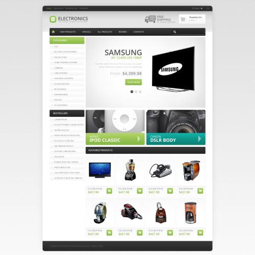 Electronics  - HTML5 ZenCart Template