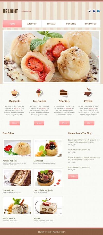 Facebook HTML CMS Vorlage für Café