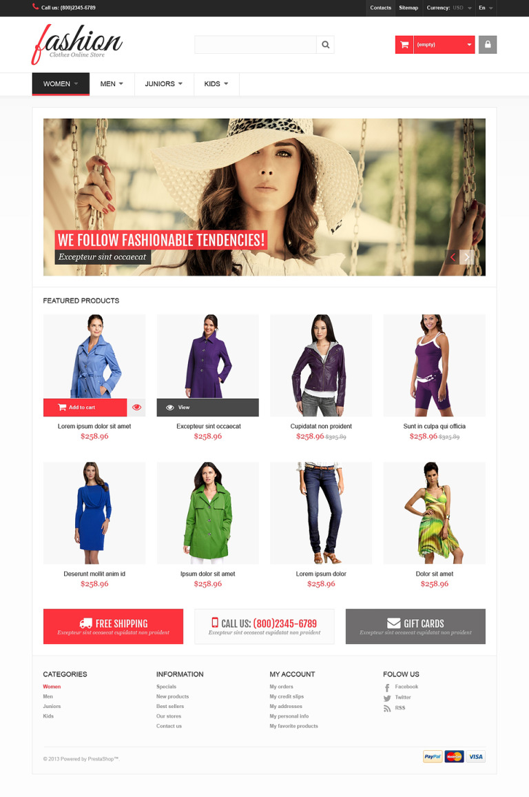 Fashion PrestaShop Theme New Screenshots BIG