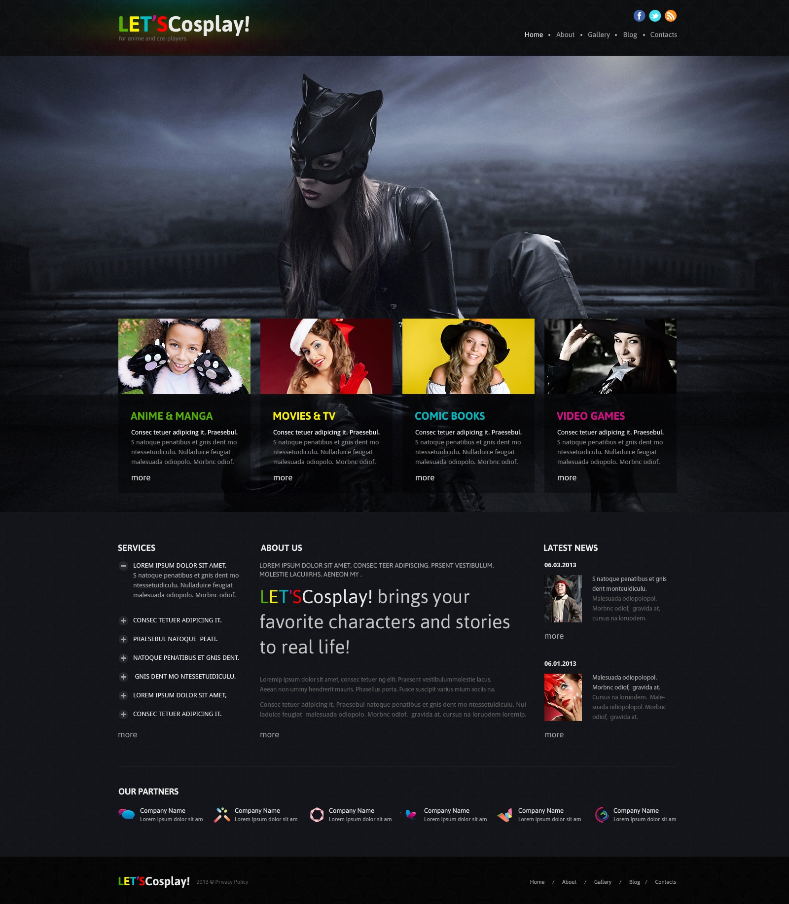 Games Responsive Joomla Template - screenshot