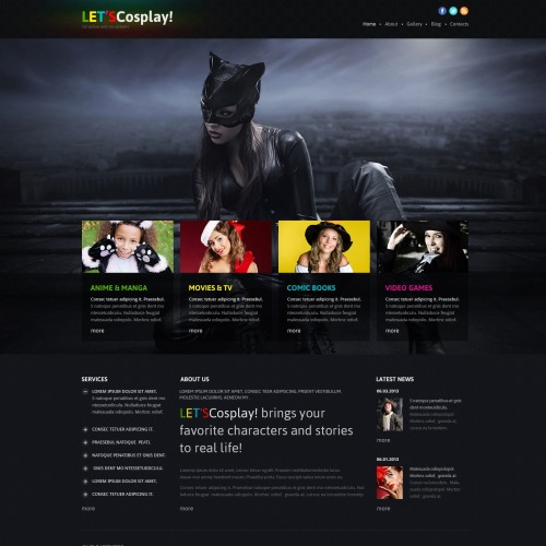 Let's Cosplay - Joomla! Template based on Bootstrap