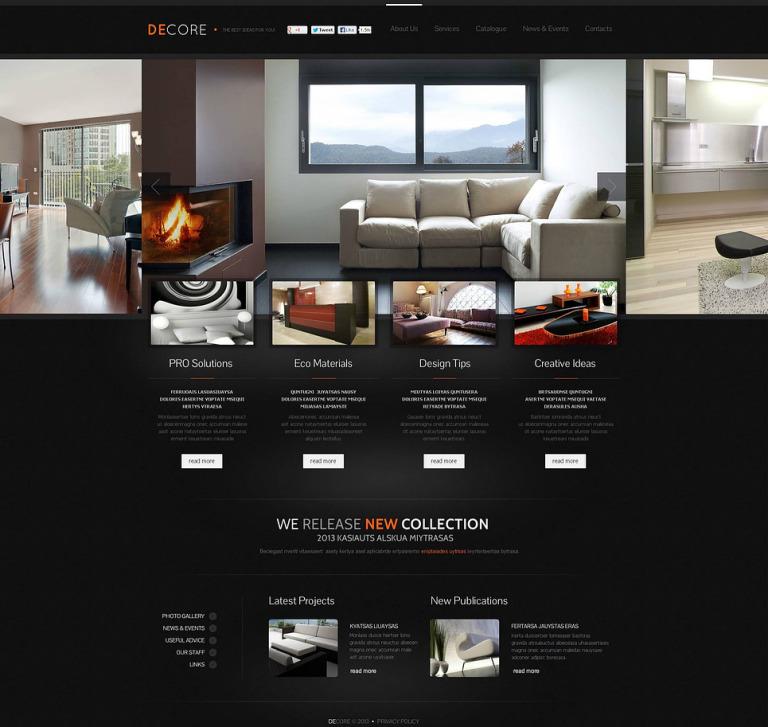 Home Decor Flash CMS Template New Screenshots BIG